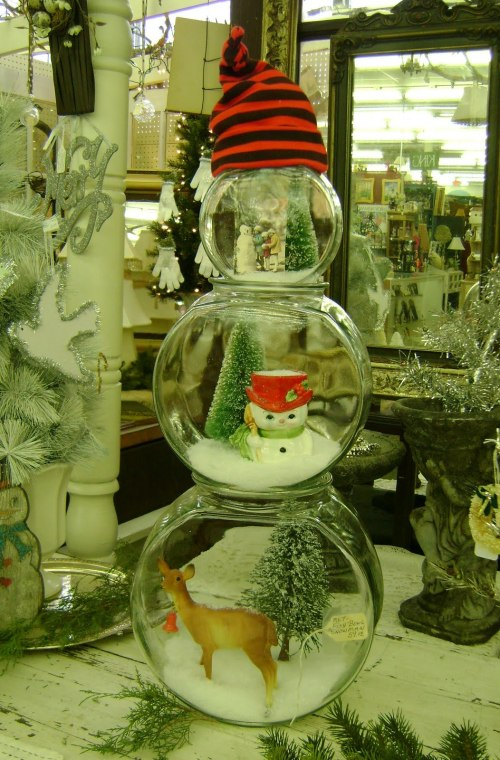 Оригинальный снеговик своими руками