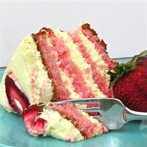 Spring Strawberry and Lemonade Layer Cake