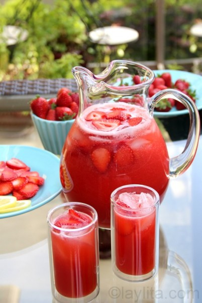 Spring Strawberry Lemonade